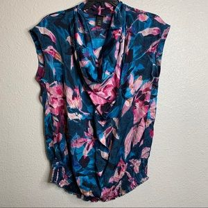 Sleeveless Blouse with fitted waist sz 16